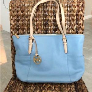 Authentic Michael Kors blue tote bag